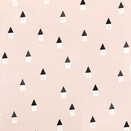Tissu coton Daily Like - Dreaming house x 10cm