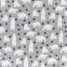 Tissu toile coton Daily Like - Polar bear x 10cm