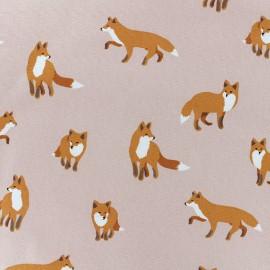 Tissu toile coton Daily Like - Winter fox x 10cm
