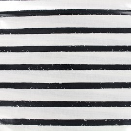 Tissu enduit coton Daily Like - Fog line x 10cm