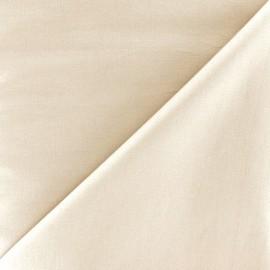 Tissu Popeline - beige clair x 10cm