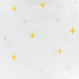 Tissu coton brodé Daily Like - Sunshine x 10cm