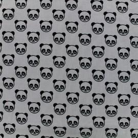 Jersey fabric Little panda - grey x 10cm