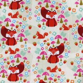 Jersey fabric Acron Valley - cream x 10cm