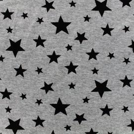 Light viscose jersey fabric Magic stars - grey x 10cm