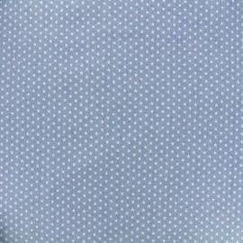 Tissu Jeans fluide Mini stars - bleu clair x 10cm