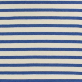 Striped Padded sweat fabric - blue x 10cm