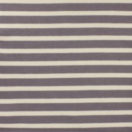 Striped Padded sweat fabric - grey x 10cm