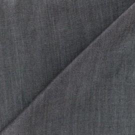 Tissu viscose chambray denim - noir x 10cm
