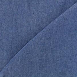 Tissu viscose chambray denim - bleu foncé x 10cm