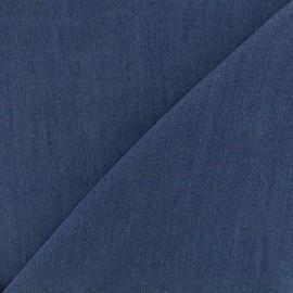 Viscose chambray fabric Denim - navy blue x 10cm