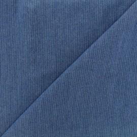 Tissu viscose chambray denim rayures - bleu foncé x 10cm