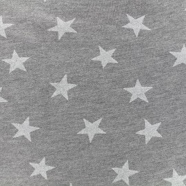 Poppy light sweat fabric Etoile Glitter - white x 10cm
