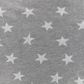 Tissu sweat léger Etoile Glitter - blanc x 10cm