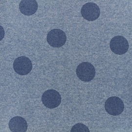 Sweat fabric Gros pois - blue x 10cm