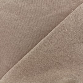 Sweat fabric - light brown  x 10cm