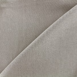 Tissu lin pailleté - grège x 10cm