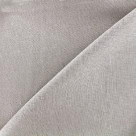 Tissu lin pailleté - gris clair x 10cm