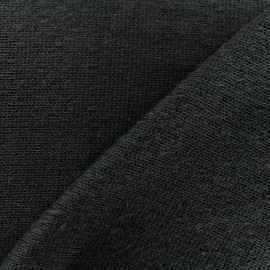 Light stitched wool fabric  - anthracite x 10cm