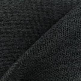 Tissu Maille tricot léger - anthracite x 10cm