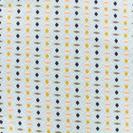 Tissu jersey Poppy Parallelogram - bleu ciel x 10cm