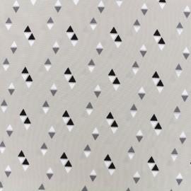 Satin Fabric Pearl Peach Delta by Penelope® - pearl grey x 10cm