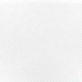 Tissu Jersey Cute Little dots - blanc x 10 cm
