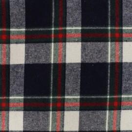 Tissu coton tartan Kilt - navy x 10cm