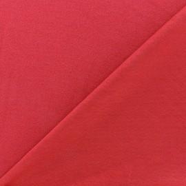 Tissu jersey crêpe - rouge x 10cm