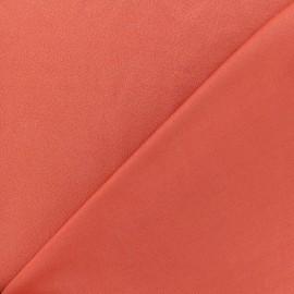 Tissu jersey crêpe - orange brique x 10cm