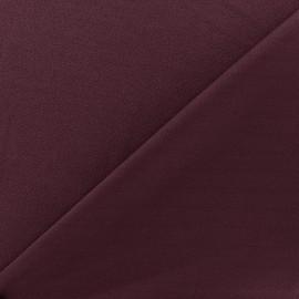 Tissu jersey crêpe - grenat x 10cm