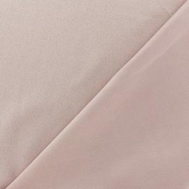 Tissu jersey crêpe - rose clair x 10cm