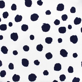 Tissu Gabardine Lycra légère Paint dot - marine x 10cm