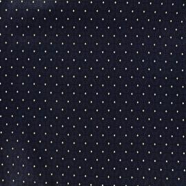 Tissu popeline Mini Diamonds - marine x 10cm