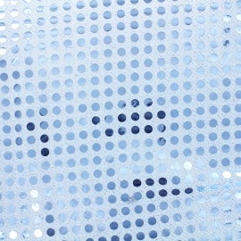 Sequined Fabric 6mm - sky blue x 10cm