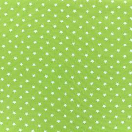 Tissu jersey Poppy Star Party - vert clair x 10cm