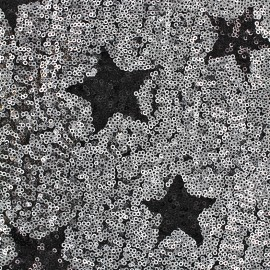 Sewn Sequin Fabric Cocktail - silver x 10cm