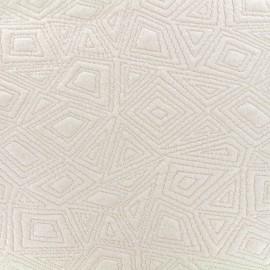 Tissu Jersey jacquard Architekt - crème x 10cm