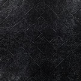 Simili cuir souple Damier - noir x 10cm