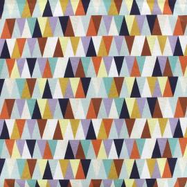 Tissu popeline Triangulo - multi x 10cm
