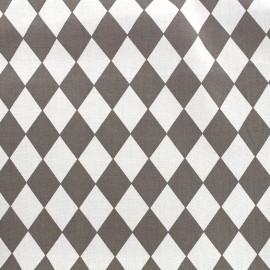 Tissu coton popeline Arlequin - gris x 10cm
