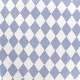 Tissu coton popeline Arlequin - bleu x 10cm