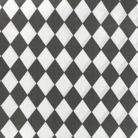 Tissu coton popeline Arlequin - anthracite x 10cm