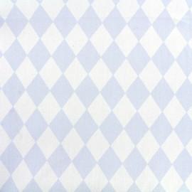 Tissu coton popeline Arlequin - bleu ciel x 10cm