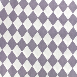 Tissu coton popeline Arlequin - parme x 10cm