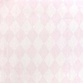 Tissu coton popeline Arlequin - rose x 10cm