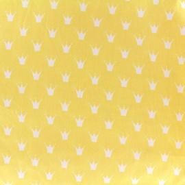 Tissu coton popeline Royal - jaune x 10cm