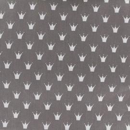 Tissu coton popeline Royal - gris x 10cm