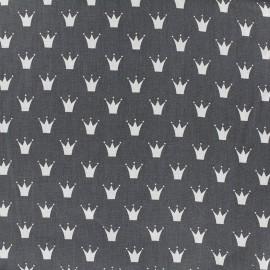Tissu coton popeline Royal - anthracite x 10cm