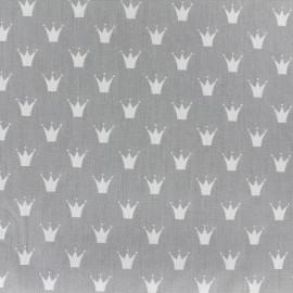 Tissu coton popeline Royal - gris clair x 10cm
